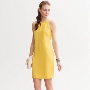 Banana Republic lemon drop yellow halter dress 2